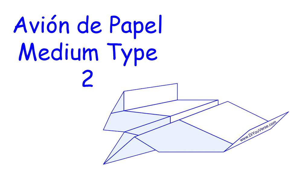 Avión de Papel – Medium Type 2