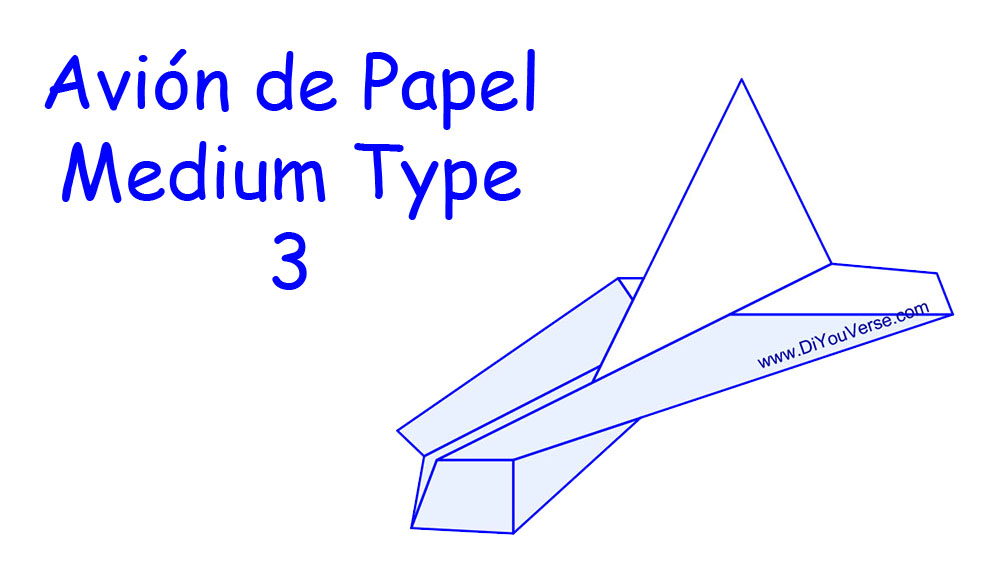 Avión de Papel – Medium Type 3