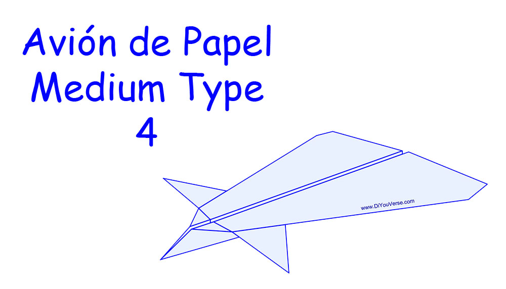 Avión de Papel – Medium Type 4