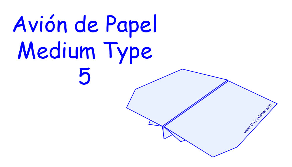 Avión de Papel – Medium Type 5