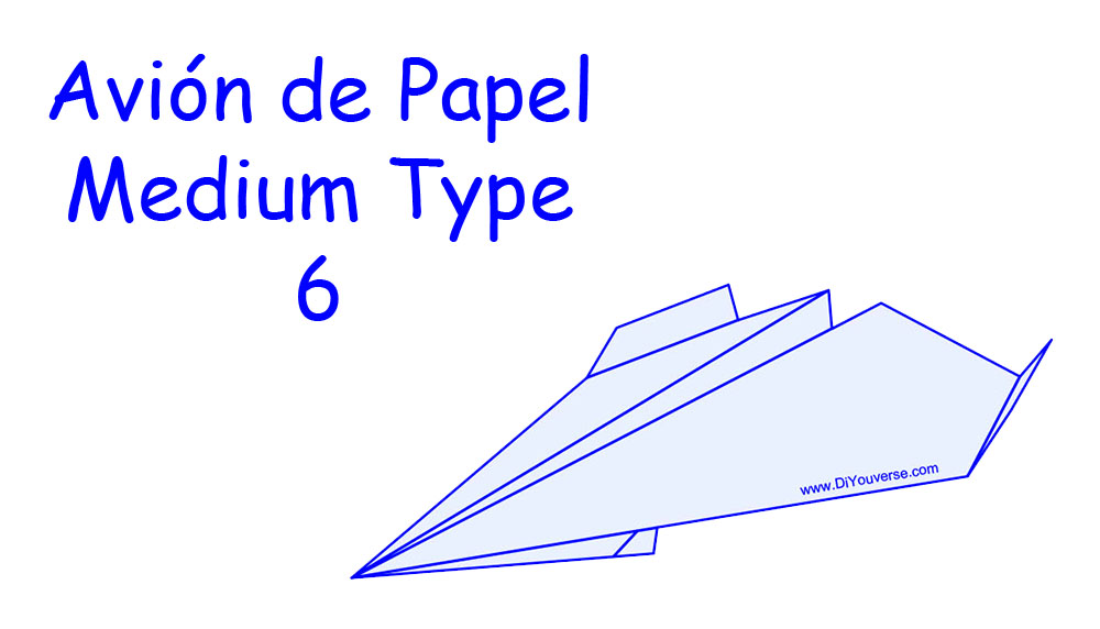 Avión de Papel – Medium Type 6