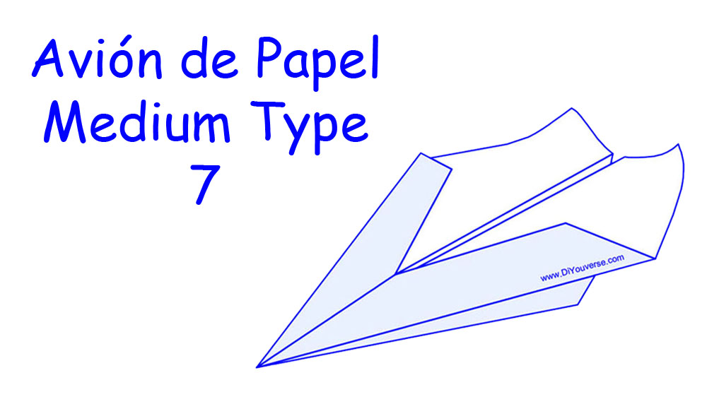 Avión de Papel – Medium Type 7