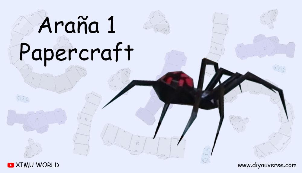 Araña 1 Papercraft