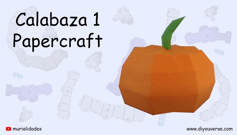 Calabaza de Halloween Papercraft