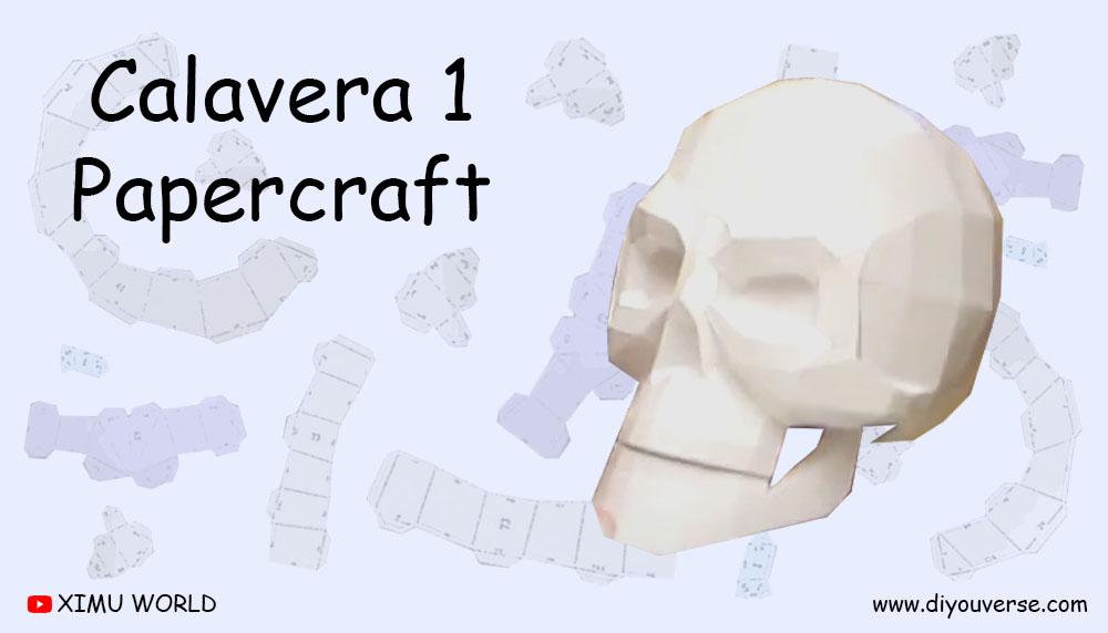 Calavera 1 Papercraft
