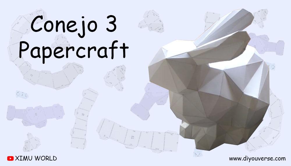 Conejo 3 Papercraft