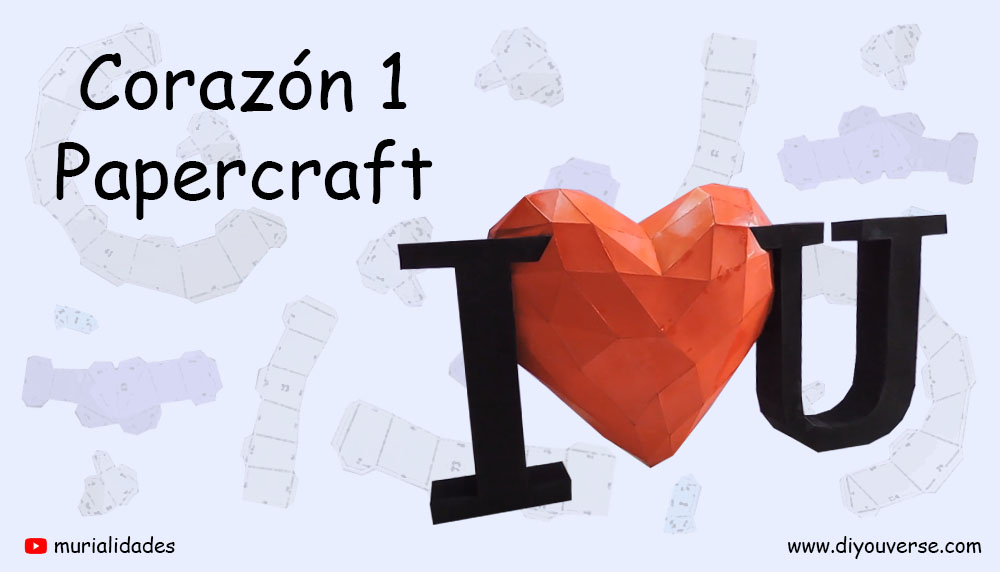 Corazón 1 Papercraft