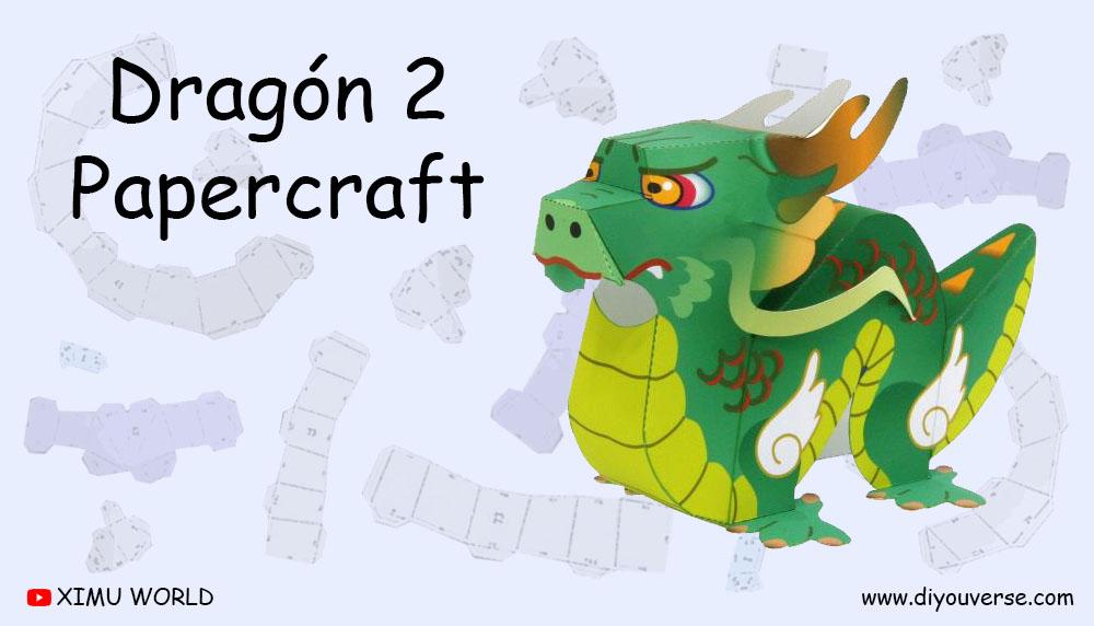 Dragón 2 Papercraft