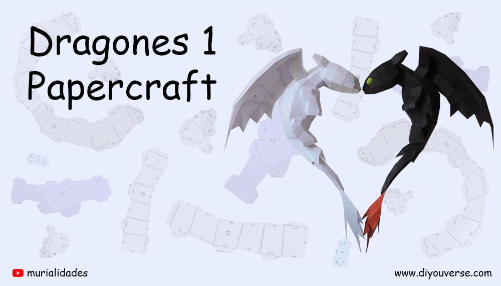 Dragones 1 Papercraft