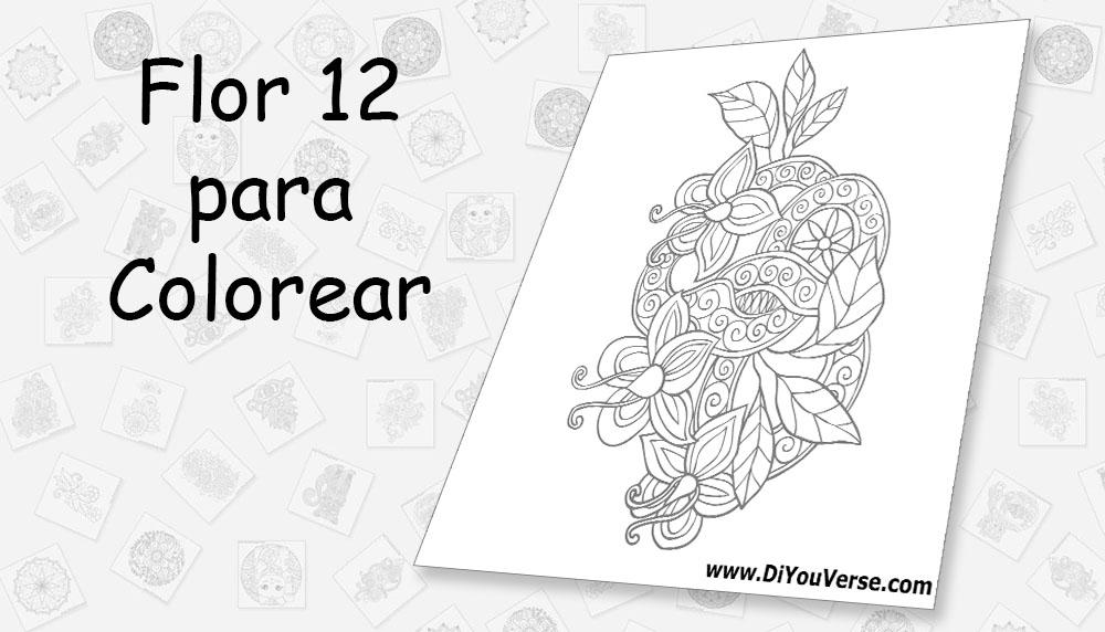 Flor 12 para Colorear