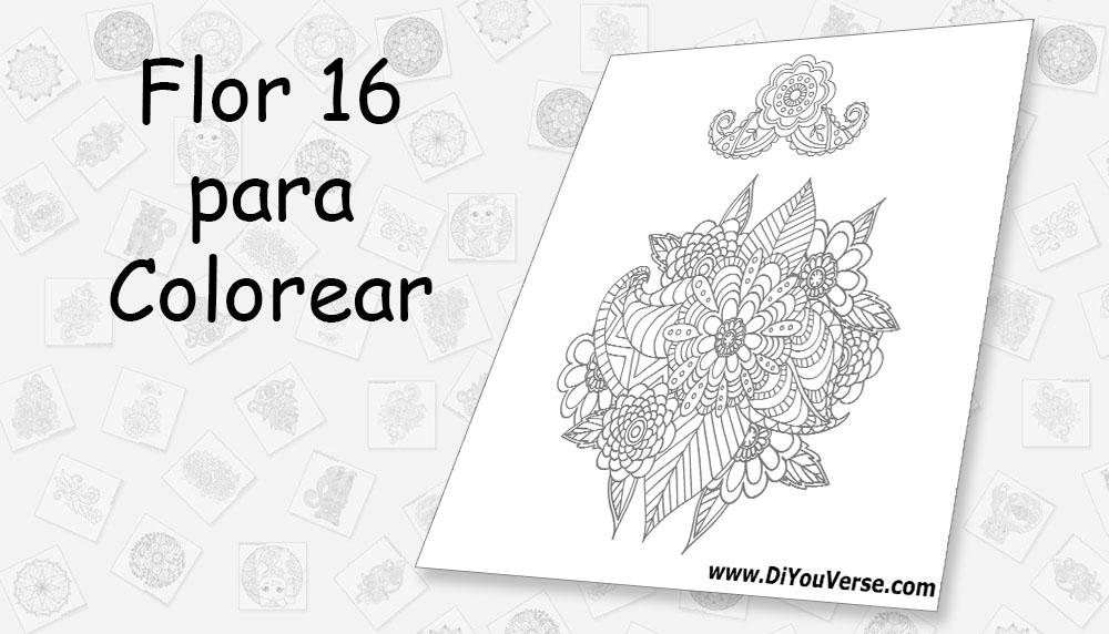 Flor 16 para Colorear