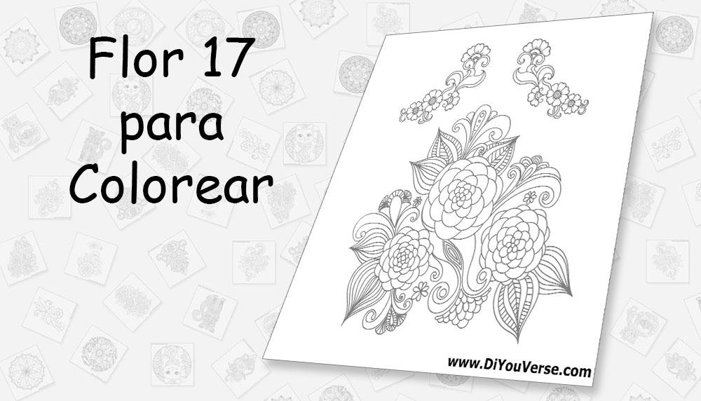 Flor 17 para Colorear