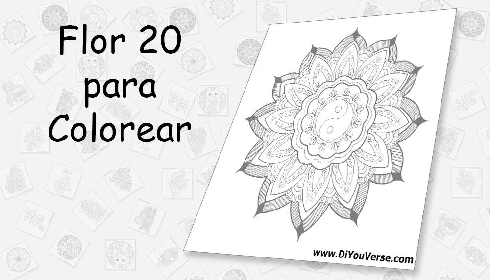 Flor 20 para Colorear