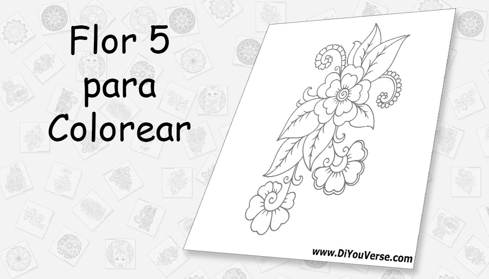 Flor 5 para Colorear