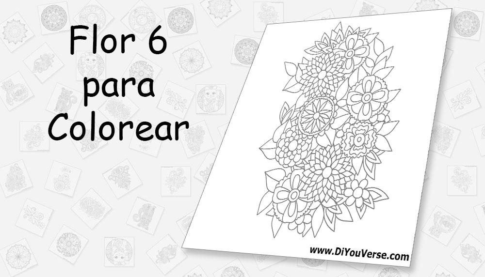 Flor 6 para Colorear