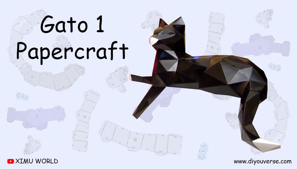 Gato 1 Papercraft