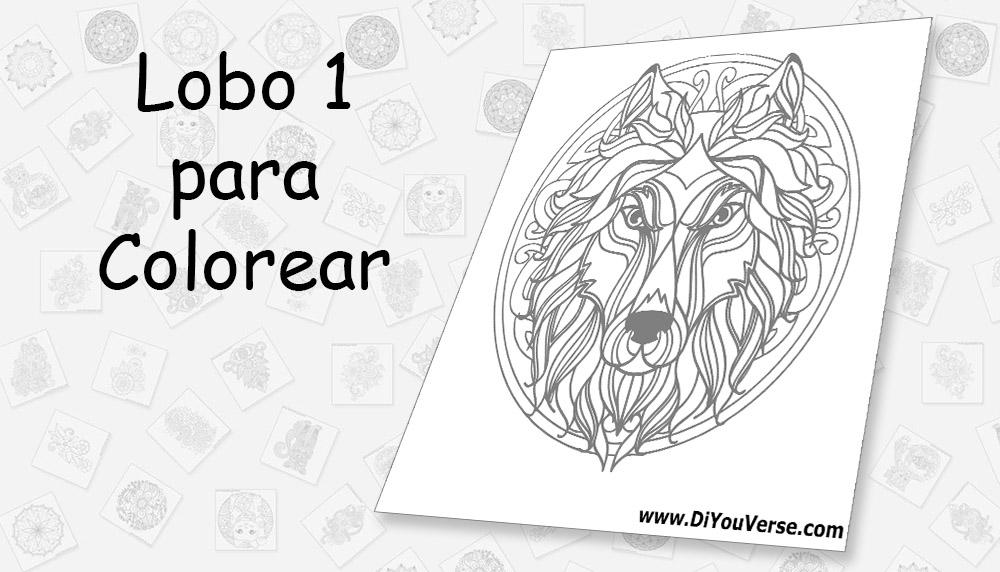 Lobo 1 para Colorear
