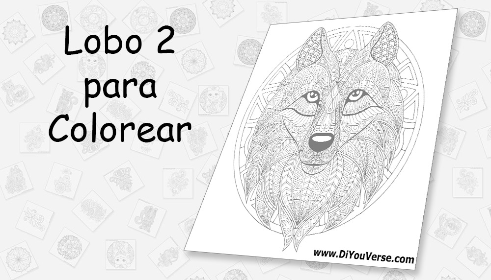 Lobo 2 para Colorear