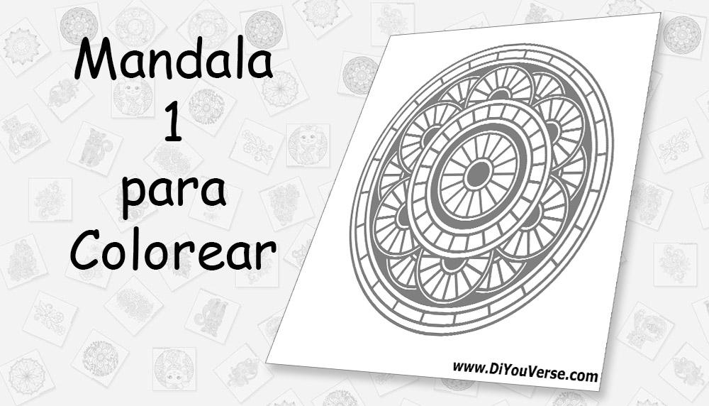 Mandala 1 para Colorear