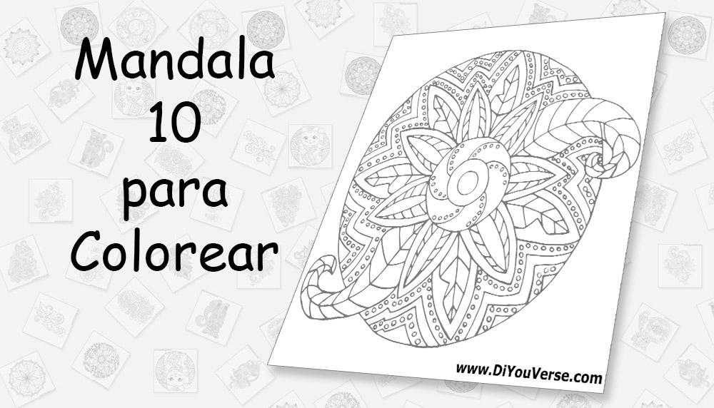 Mandala 10 para Colorear