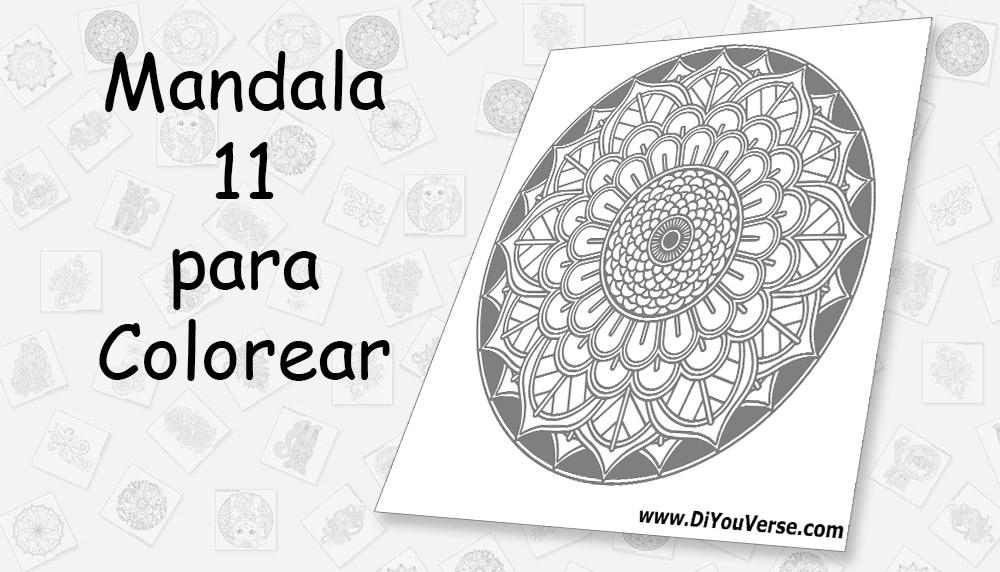 Mandala 11 para Colorear