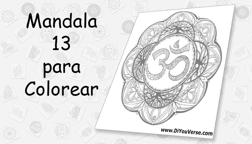 Mandala 13 para Colorear
