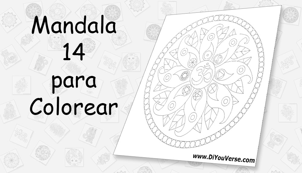 Mandala 14 para Colorear