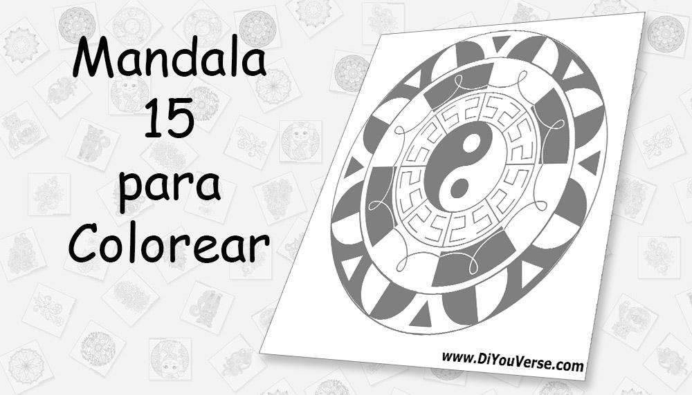 Mandala 15 para Colorear