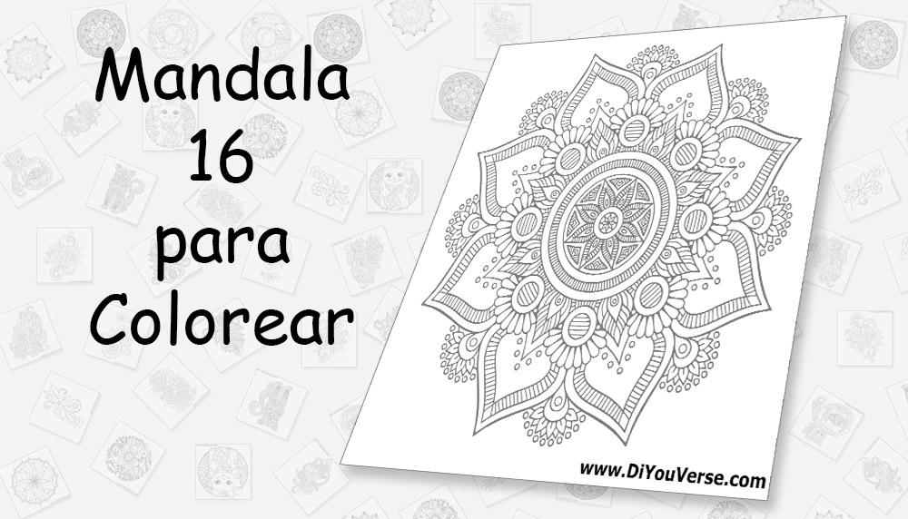 Mandala 16 para Colorear