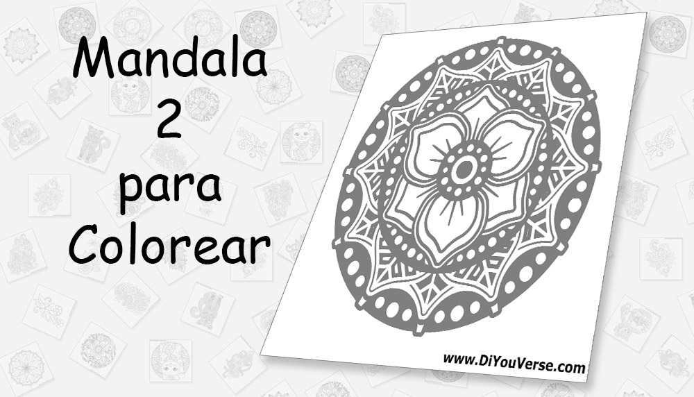 Mandala 2 para Colorear