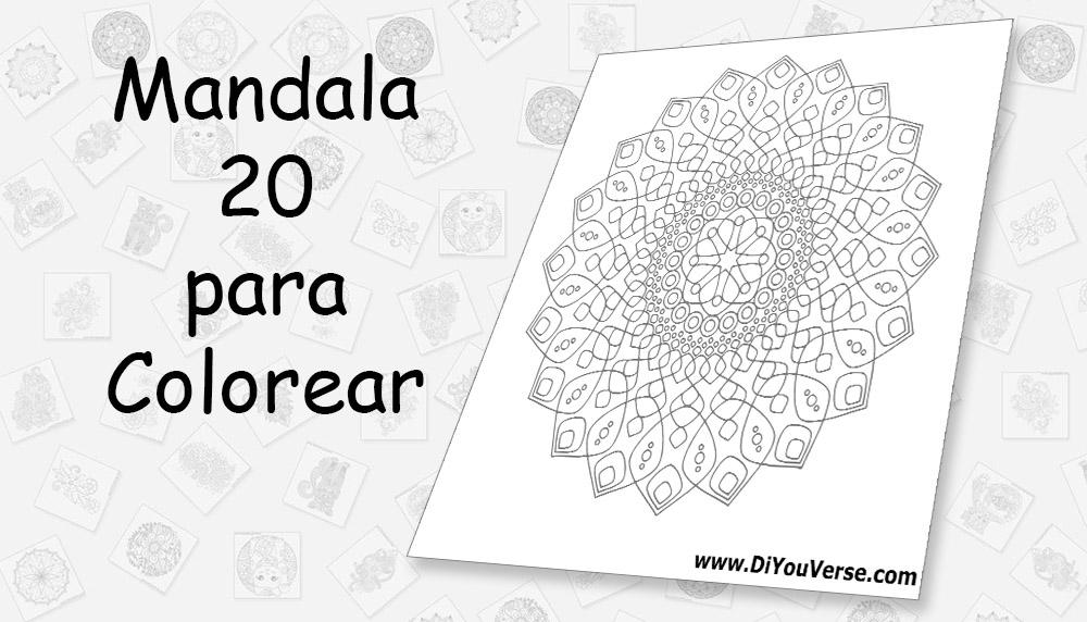 Mandala 20 para Colorear