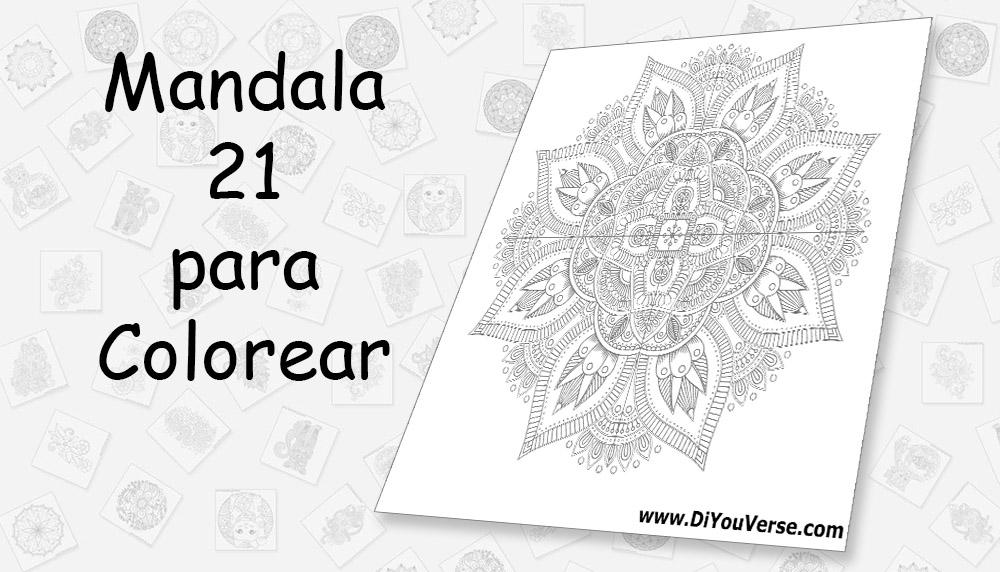 Mandala 21 para Colorear