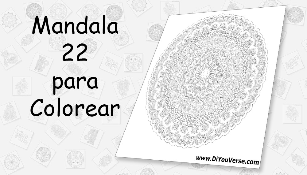 Mandala 22 para Colorear