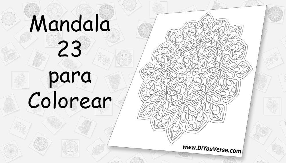 Mandala 23 para Colorear
