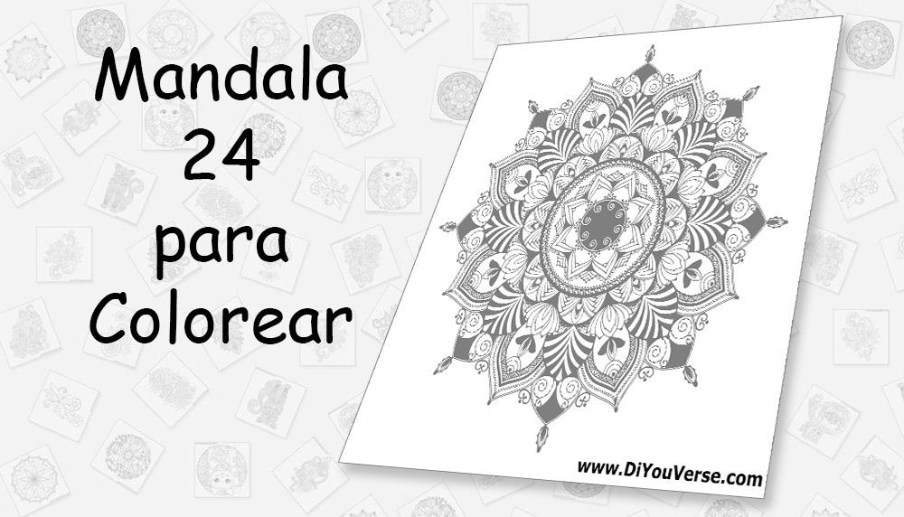 Mandala 24 para Colorear