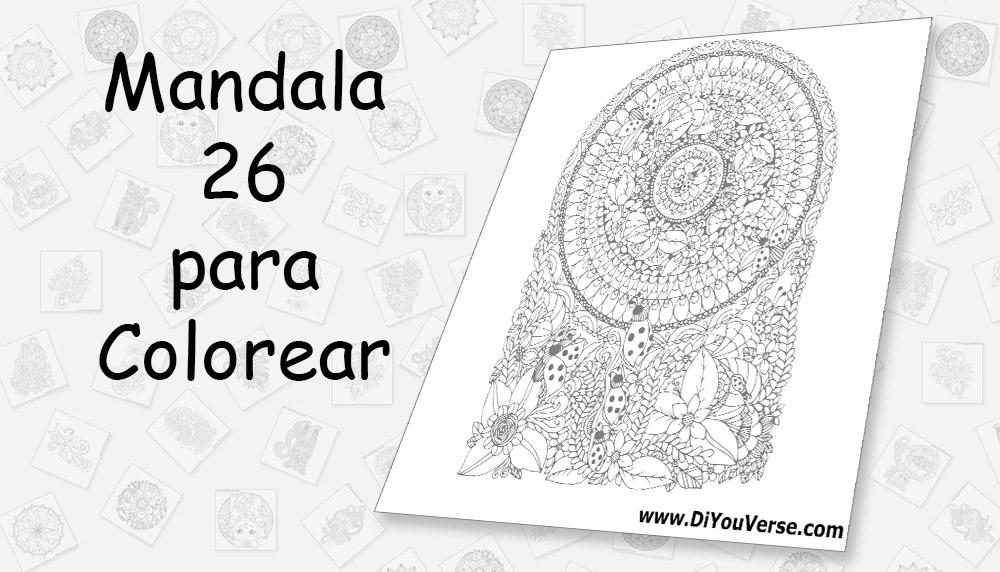Mandala 26 para Colorear