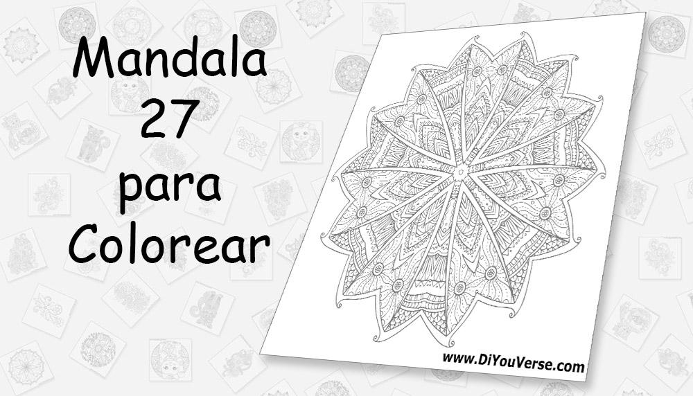 Mandala 27 para Colorear