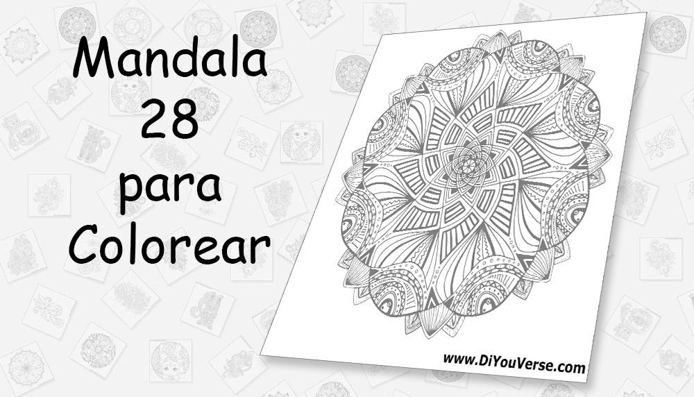 Mandala 28 para Colorear
