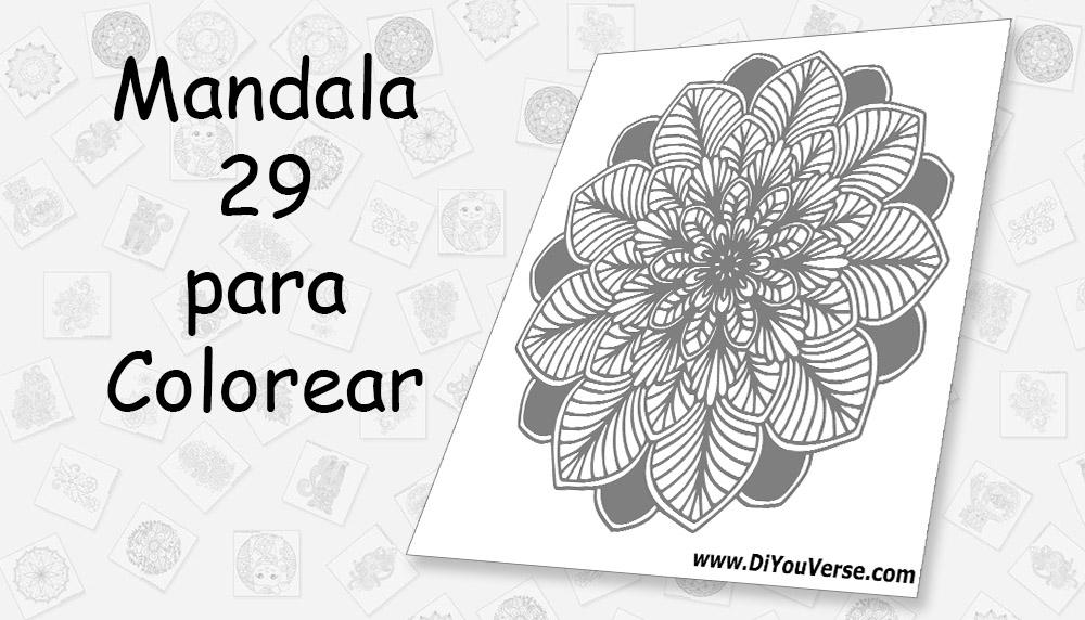 Mandala 29 para Colorear