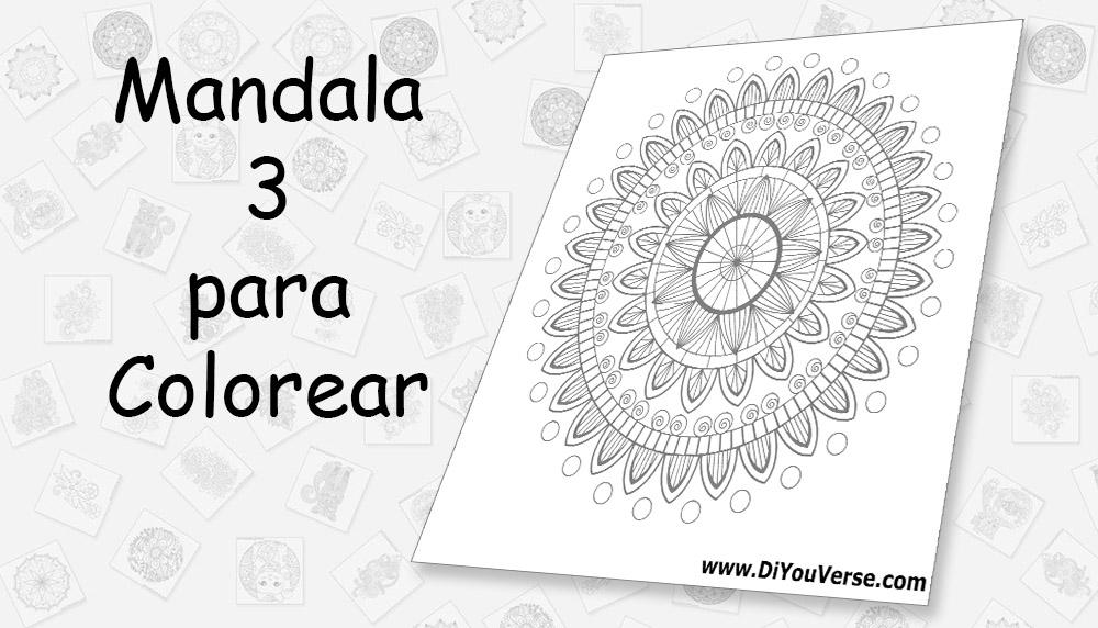 Mandala 3 para Colorear
