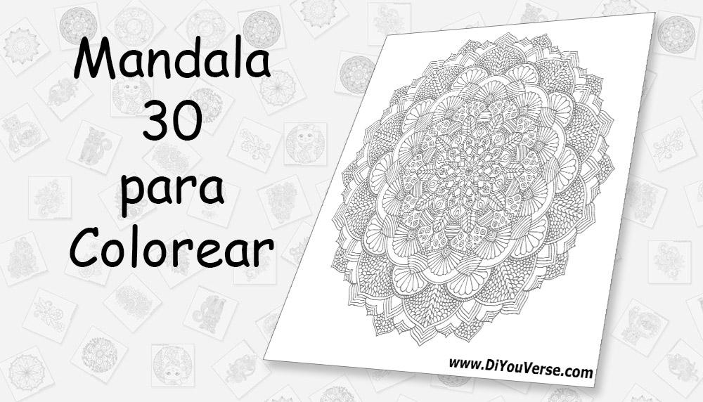 Mandala 30 para Colorear