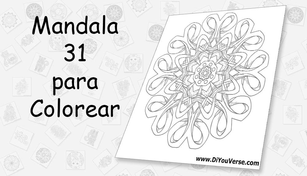 Mandala 31 para Colorear