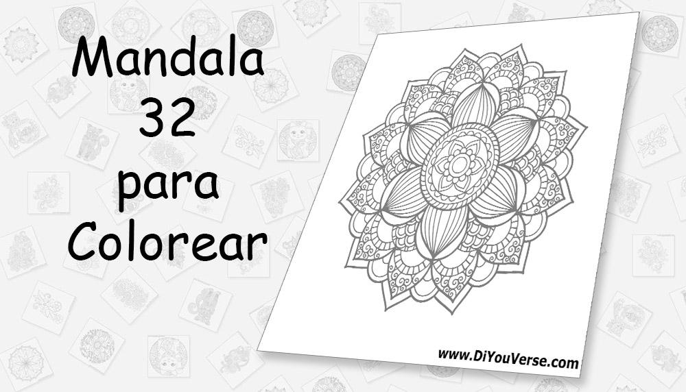 Mandala 32 para Colorear