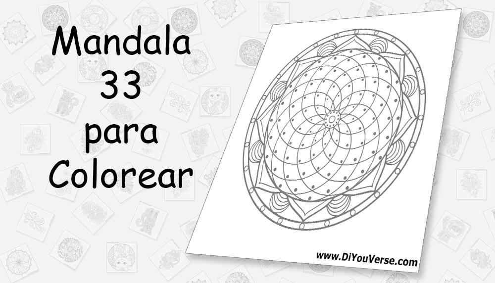Mandala 33 para Colorear