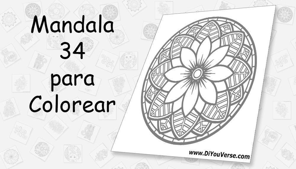Mandala 34 para Colorear