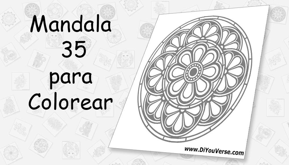 Mandala 35 para Colorear