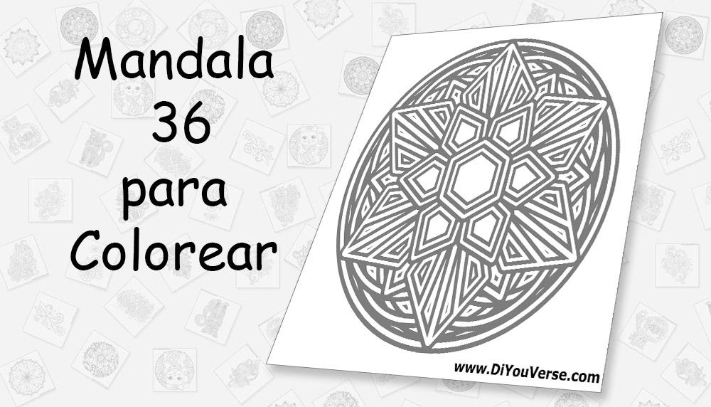 Mandala 36 para Colorear