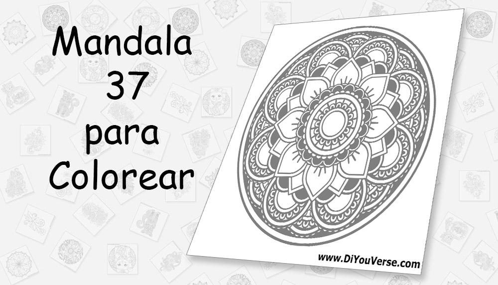 Mandala 37 para Colorear
