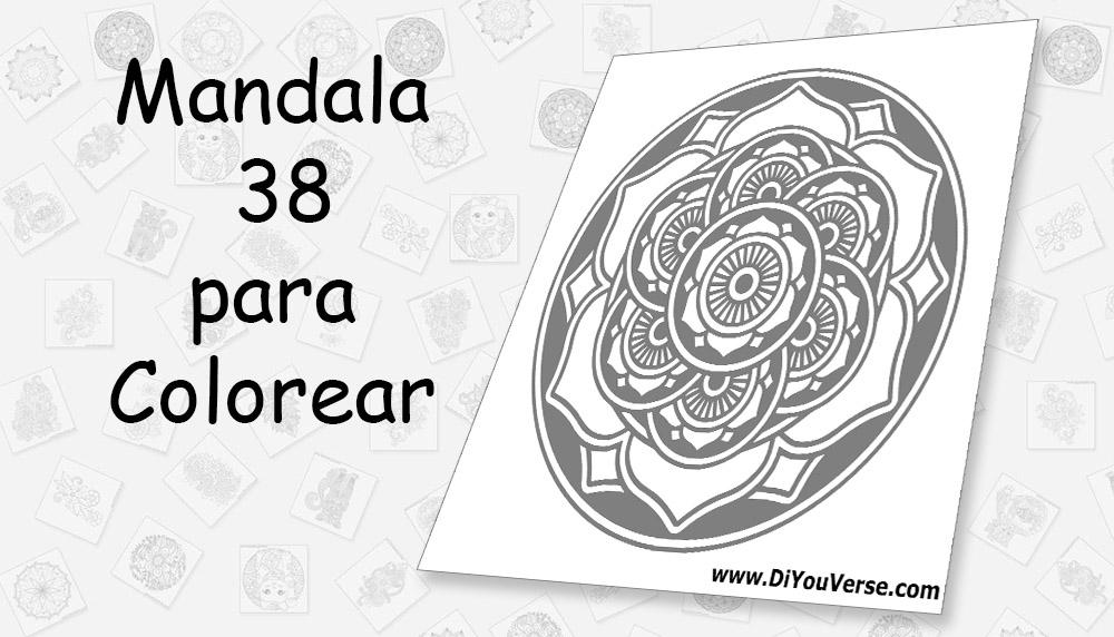 Mandala 38 para Colorear
