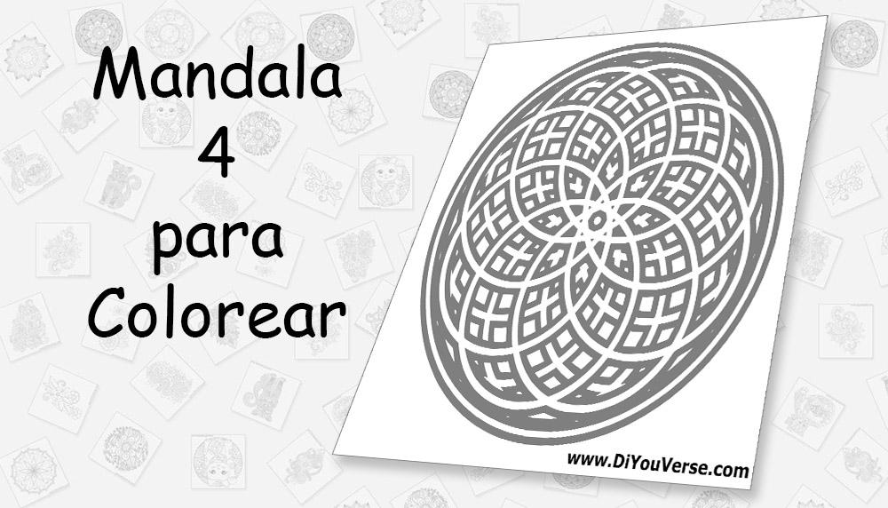 Mandala 4 para Colorear